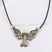 F85The Mortal Instruments cité des os Tessas horloge ange collier