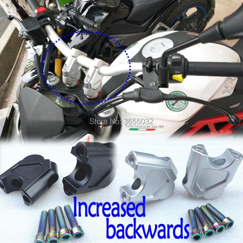 For Benelli TRK502 TRK 502 2016-2017 Motorcycle Accessories Handlebar Riser CNC Aluminium Handle Bar Clamp Raised Extend