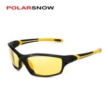 POLARSNOW-lunettes de Vision nocturne   Verres polarisants TR90 +, lunettes en caoutchouc sûres de conduite nocturne, lunettes de qualité supérieure pour hommes, Oculos P8633Y