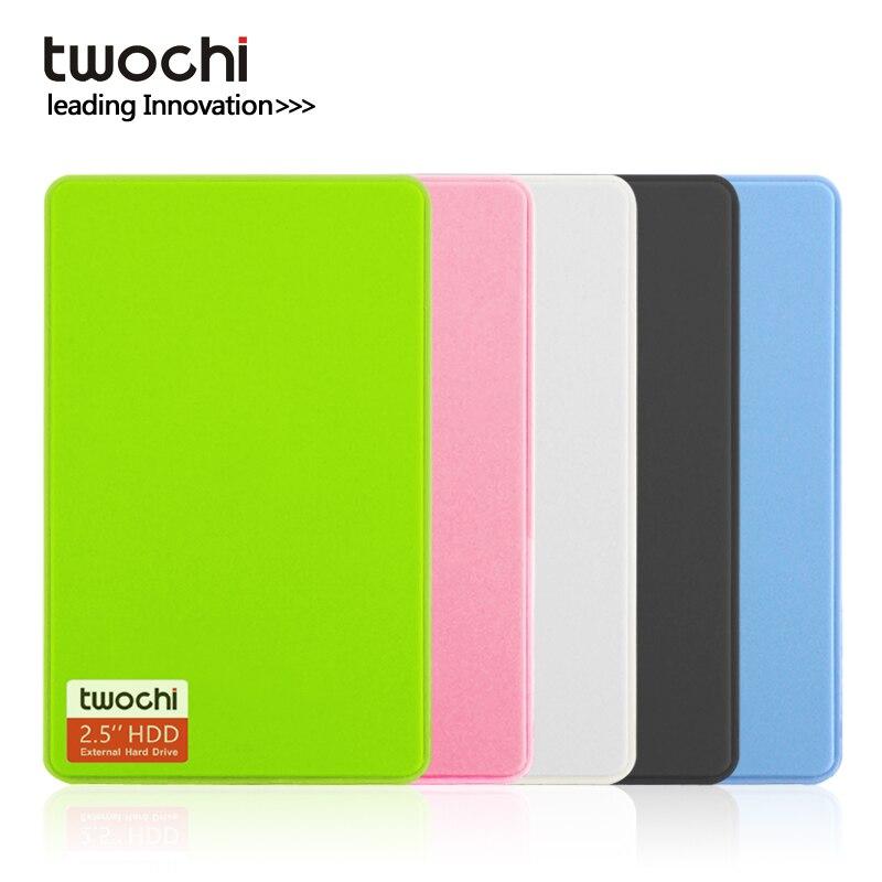 Nuevo estilo TWOCHI A1 5 Color Original 2,5 USB 2,0 disco duro externo 80GB disco de almacenamiento HDD portátil Plug and Play en venta