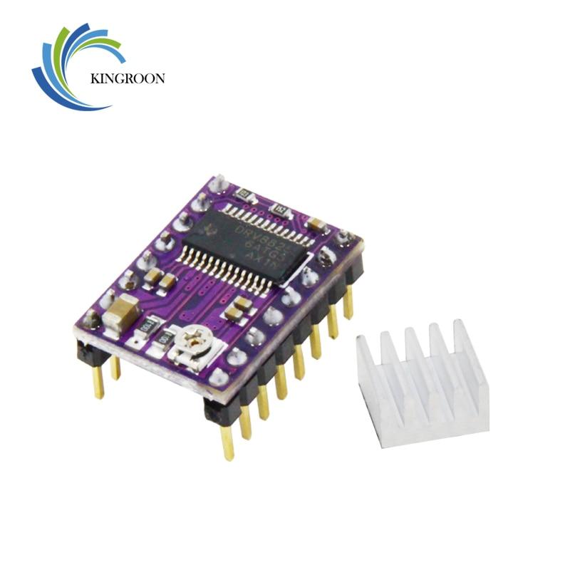 5pcs/lot New Stepstick Drv8825 For RAMPS Stepper Motor Driver HeatSink Part 3D Printers Parts Heat Sink 4 Layer PCB Purple Board