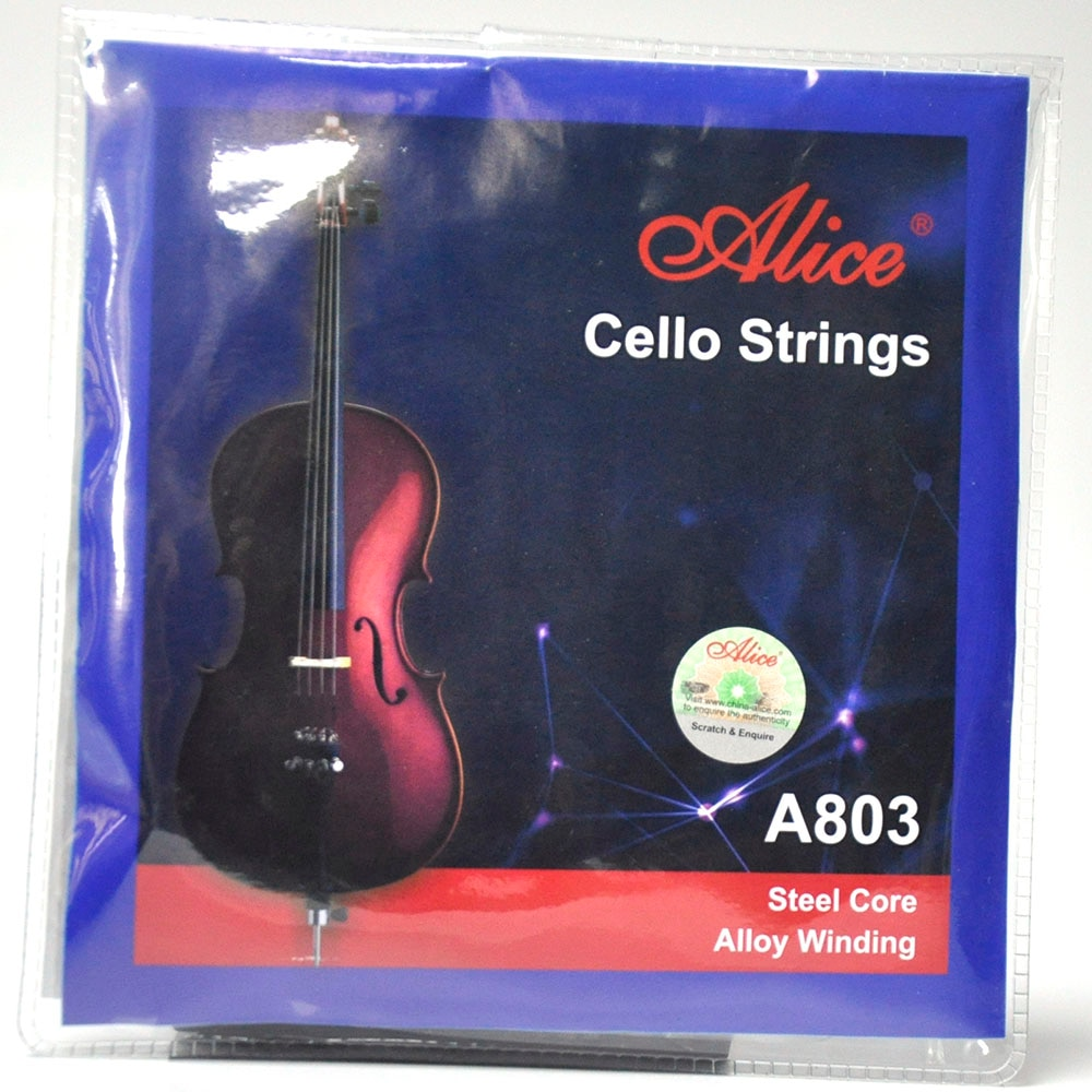 2 Sets Alice A803 Cello Strings Steel Core Alloy Winding A-1 D-2 G-3 C-4 New enlarge