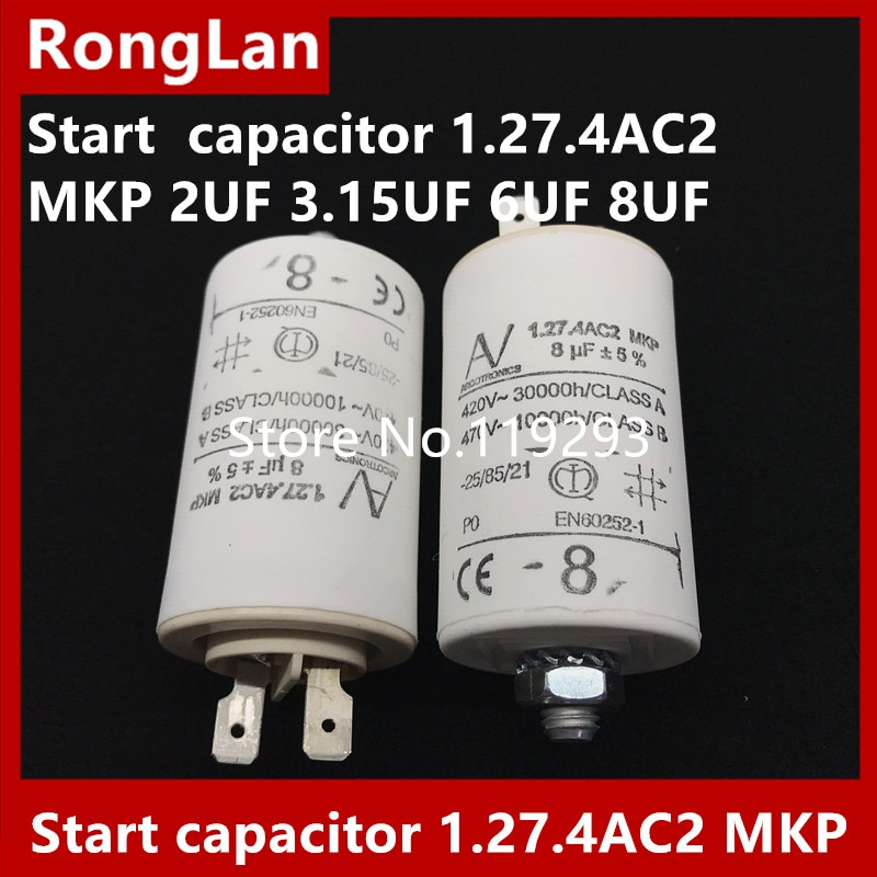 [BELLA] [New Original] ARCOTRONICS Motor inverter start  capacitor 1.27.4AC2 MKP 2UF 3.15UF 6UF 8UF