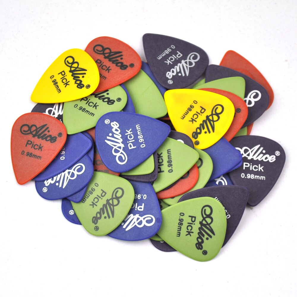 50pcs Gauge 0.98mm Alice Delrin Guitar Picks Plectrums For Electric Guitar