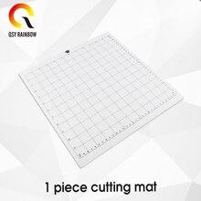 QSYRAINBOW 1 sztuk wymiana mata do cięcia przezroczysta mata samoprzylepna z siatką pomiarową dla sylwetka Cameo ploter maszyna
