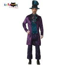 Déguisement effaçable Alice au pays des merveilles chapelier fou Cosplay hommes déguisement dhalloween pour Adluts fête de carnaval déguisement de noël