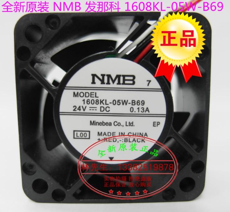 جديد NMB-MAT NMB 1608KL-05W-B69 ل FANUC 4020 DC24V0.13A التبريد مروحة