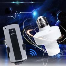 Durable E27 tornillo inalámbrico luz con control remoto lámpara portalámparas enchufe interruptor nuevo On Off gran oferta APE