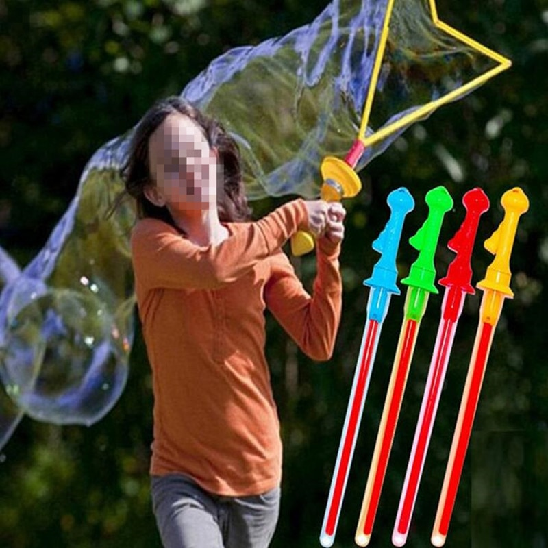 46cm tamaño grande espada occidental palo de burbujas máquina de jabón soplador de anillo burbujas niños juguetes fiesta de cumpleaños Favor sin agua