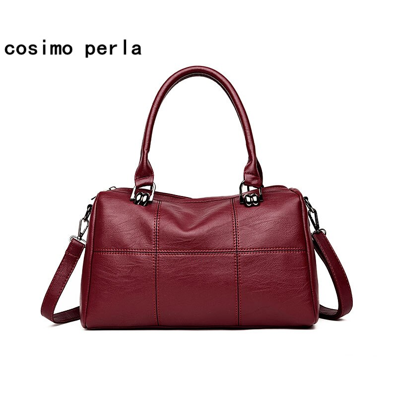 Fashion Elegant Pillow Boston Handbags Shoulder Crossbody Bags for Women 2020 Famous Designer PU Leather Small Totes Sac a Main