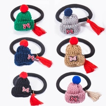 New wool hat elastic hair ring Japan and South Korea cute simple tie hair rubber band hair rope female hair accessories
