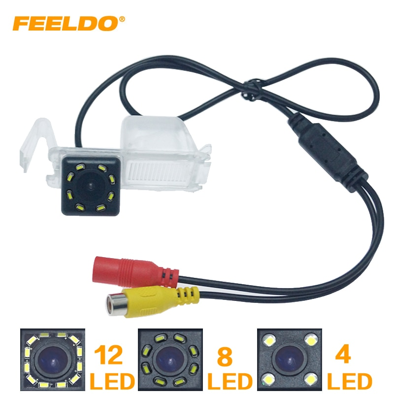 FEELDO Автомобильная запасная камера заднего вида с 4/8/12 светодиодами для Buick Boulevard Sail Excelle GT Chevrolet Cruze Baojun 630 # HQ6098