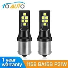 2 pièces 1156 BA15S P21W LED BAU15S PY21W 1157 BAY15D P21/5W AMPOULE LED Voiture 12SMD 3030 Clignotant Feux de Recul DRL Auto Lampe 12V