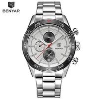benyar luxury brand military watch waterproof fashion chronograph sport quartz wristwatches clock for men 2021 relogio masculino