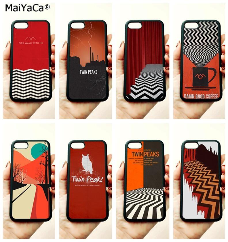 TV series twin peaks soft TPU edge mobile phone cases for apple iPhone 11 pro max 5s SE 6 6s plus 7 7plus 8 8plus XR XS MAX case