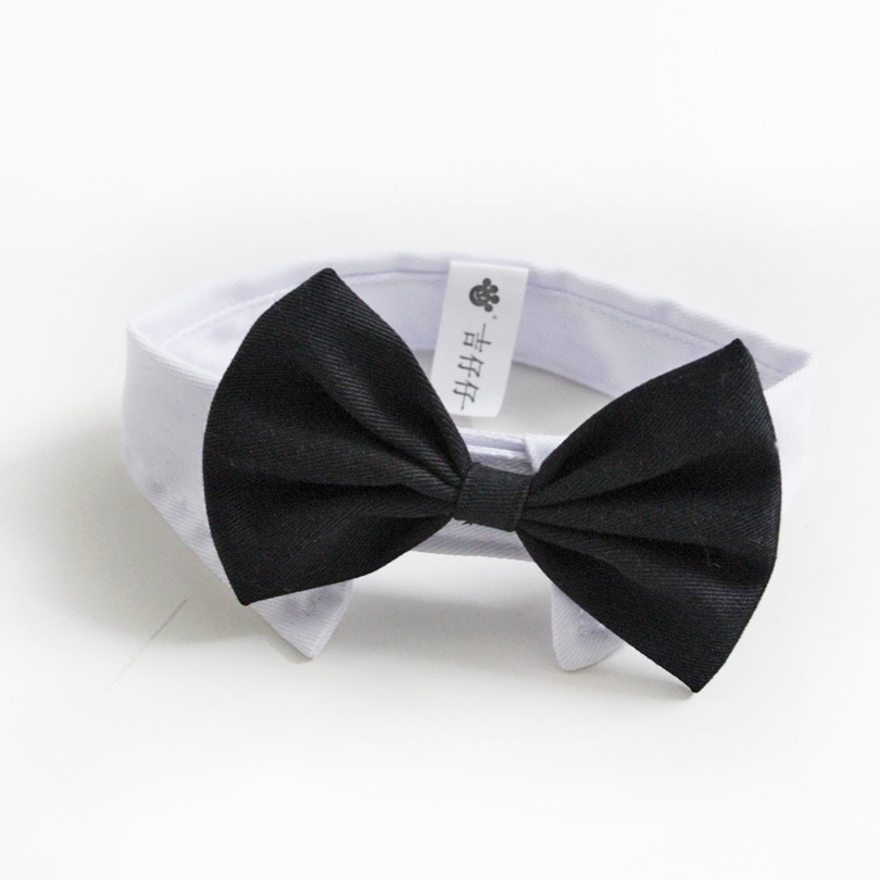 nacoco dog suit pet gents costume formal dress clothes with bow tie halloween gentleman costumes for puppy and cat New Arrival Handsome Formal Dog Cat Bow Tie Groom Tuxedo Costumes Pet Dogs Tie Wedding Accessories Grooming Black Bowtie