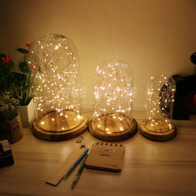 Romantisches led-nachtlicht holzsockel retro nachtlicht für Kinder mädchen zimmer dekorative