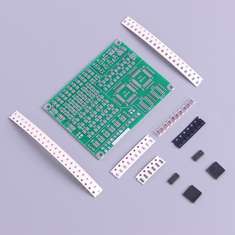 Prática pcb placa de solda treinamento habilidade iniciante kit diy kit de soldagem eletrônico