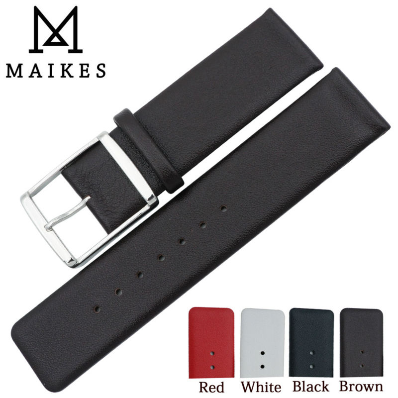 MAIKES-Correa de reloj de cuero genuino para CK Calvin Klein K76211 k76271...