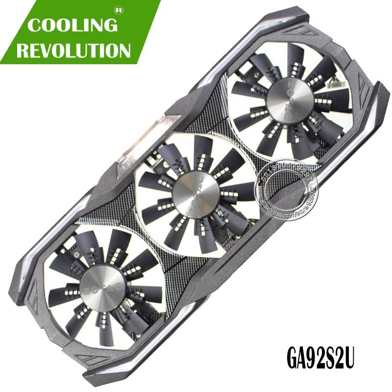 GPU VGA kühler grafikkarte gtx 1080 Fan GA92S2U Für ZOTAC GTX1080 eth bergbau Video Karte Kühlung