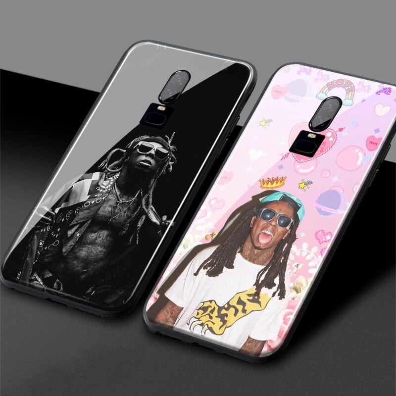 Lil Wayne rapero hip hop coque estético de vidrio templado de silicona suave 1 + 6t 7 funda de teléfono carcasa para OnePlus 6 6T 7 7T Pro