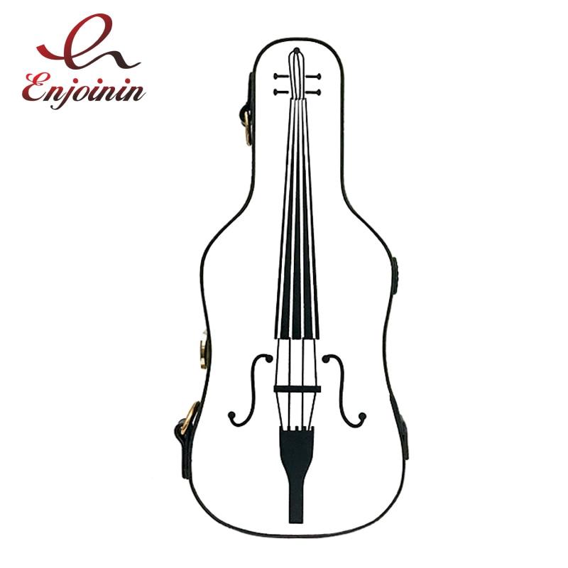 Personalidad divertido violín estilo pu cuero moda bolso de hombro bolso de mujer solapa monedero bandolera Mini bandolera