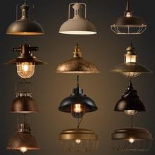Industriel maison déco rétro pendentif lumières lampe barre salle à manger îles Vintage lustre pendente Led luminaria lampe à main E27