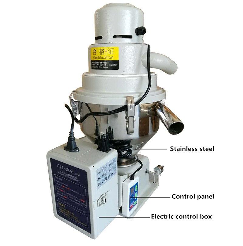 Máquina de alimentação plástica automática 220 kg/h 7.5l do vácuo da partícula do alimentador automático do carregador do funil 300 v para a máquina y da modelação por injeção