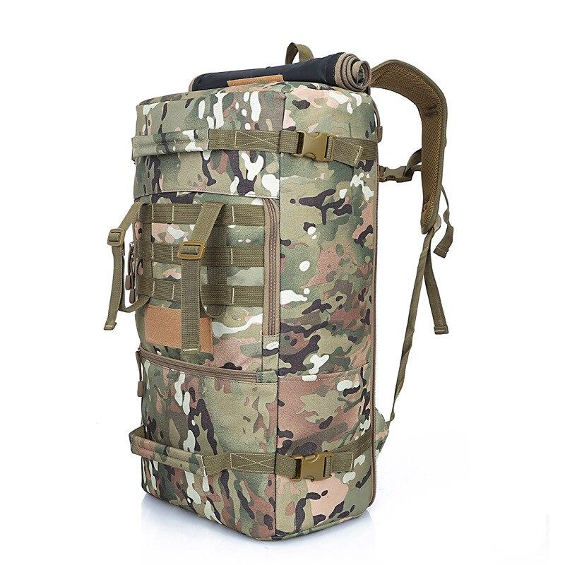Mochila de Grande Bolsa de Montanhismo Camuflada à Prova Capacidade Alta Qualidade Água Militar Feminino – Masculino 50l d'