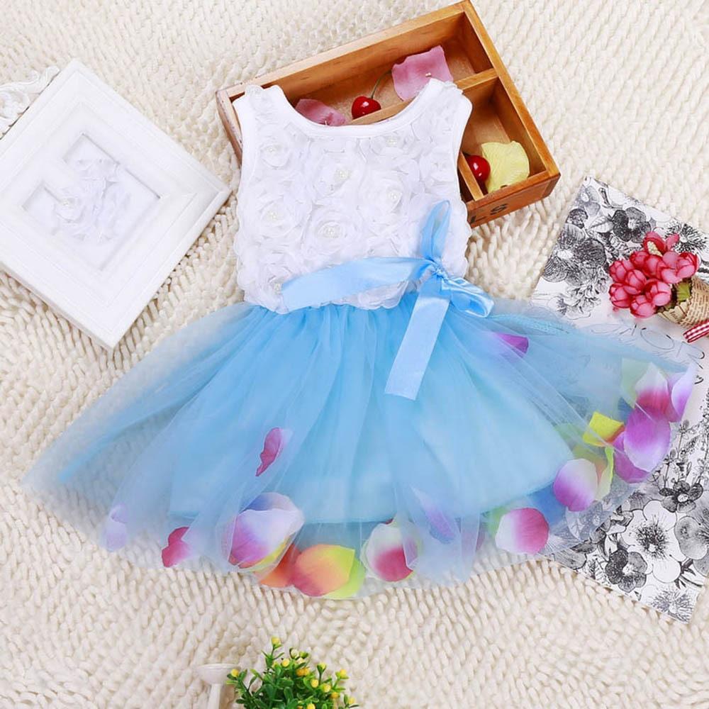 Детское платье-пачка без рукавов для девочек, платье для торжеств, кружевное платье с бантом, платье из тюля с цветами