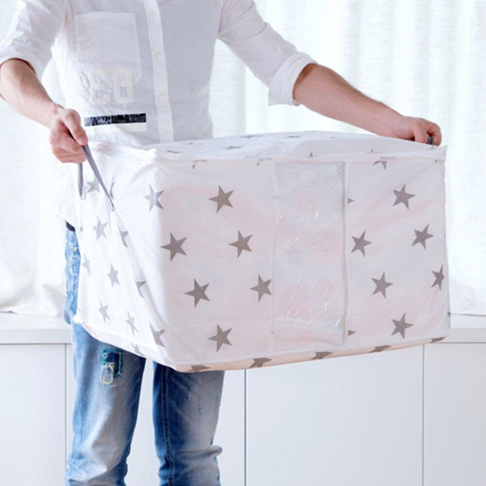 Flamingo Shape Quilt Storage Bag Home Clothes Foldable Blanket Quilt Closet Sweater Organizer Travel Pouches Storage Bag Clothes
