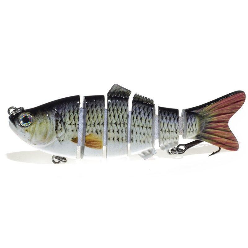 5 unids/lote, casi vivo, 3 9,5 pulgadas, réplica ARTIFICIAL de pez azul, señuelos de pez azul, cebo, Patito Feo, Crappie, señuelo Bluegill