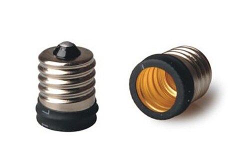 50Pcs/lot E17 to E14 Lamp Adapter Converter Led Halogen CFL light bulb lamp adapter E14~E17 adapter converter