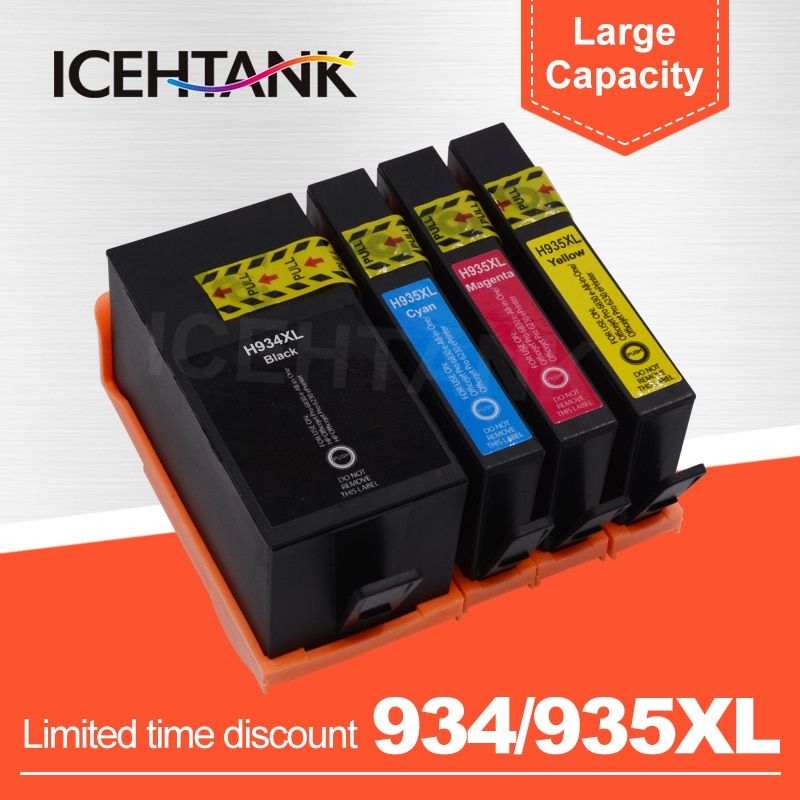 ICEHTANK-خرطوشة حبر الطابعة ، استبدال متوافق مع HP 934 935 XL ، لـ HP934 Officejet pro 6230 6830 6835 6812 6815 6820