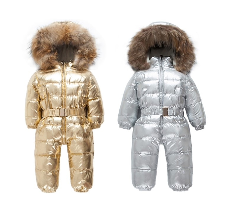 New autumn and winter infants down jackets children thick men and women baby long sleeves out romper