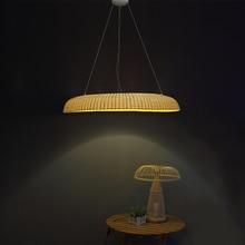 Anel de bambu Restaurante lustre lâmpada, LEVOU poste de iluminação personalidade criativa chá, lâmpada de bambu ZA zb35
