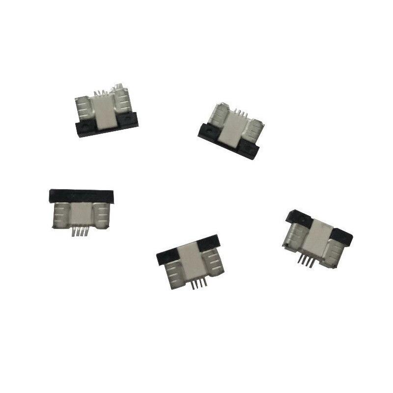 4 pinos 0.5 milímetros 1 milímetros Pitch FFC/FPC Plano Flexível Cabo Conector ZIF Topo Contato 10 PS