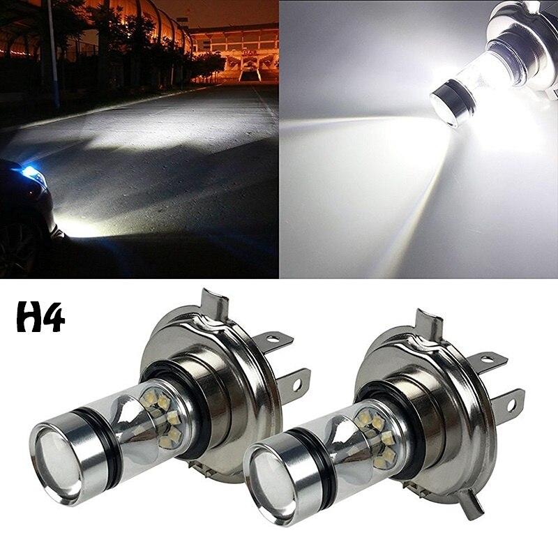Auto Led-leuchten Lampen nebelscheinwerfer 2 STÜCK 60 Watt Extrem Helle 6000 Karat LED Headlights1000LM DRL H4 H7 H8 H11 9005 9006 12 V 24 V weiß