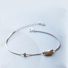 La Monada Perle Pea Saubohne Charme 925 Sterling Silber Minimalis Armbänder Für Frauen Silber Armband 925 Frauen Schmuck Kette
