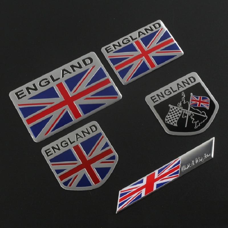 Pegatinas de coche de la bandera de Inglaterra emblema de Reino Unido insignia de Reino Unido para BMW Audi Ford Land Rover Mini Cooper Jaguar Auto Styling