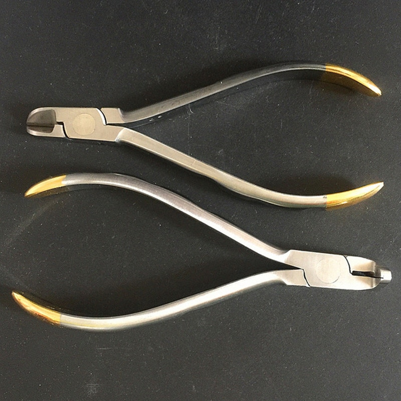 Alicates de dentista, cortador de extremo Distal, filamentos dentales, insertos de carburo de tungsteno, mandíbulas de corte de arco, instrumentos de ortodoncia