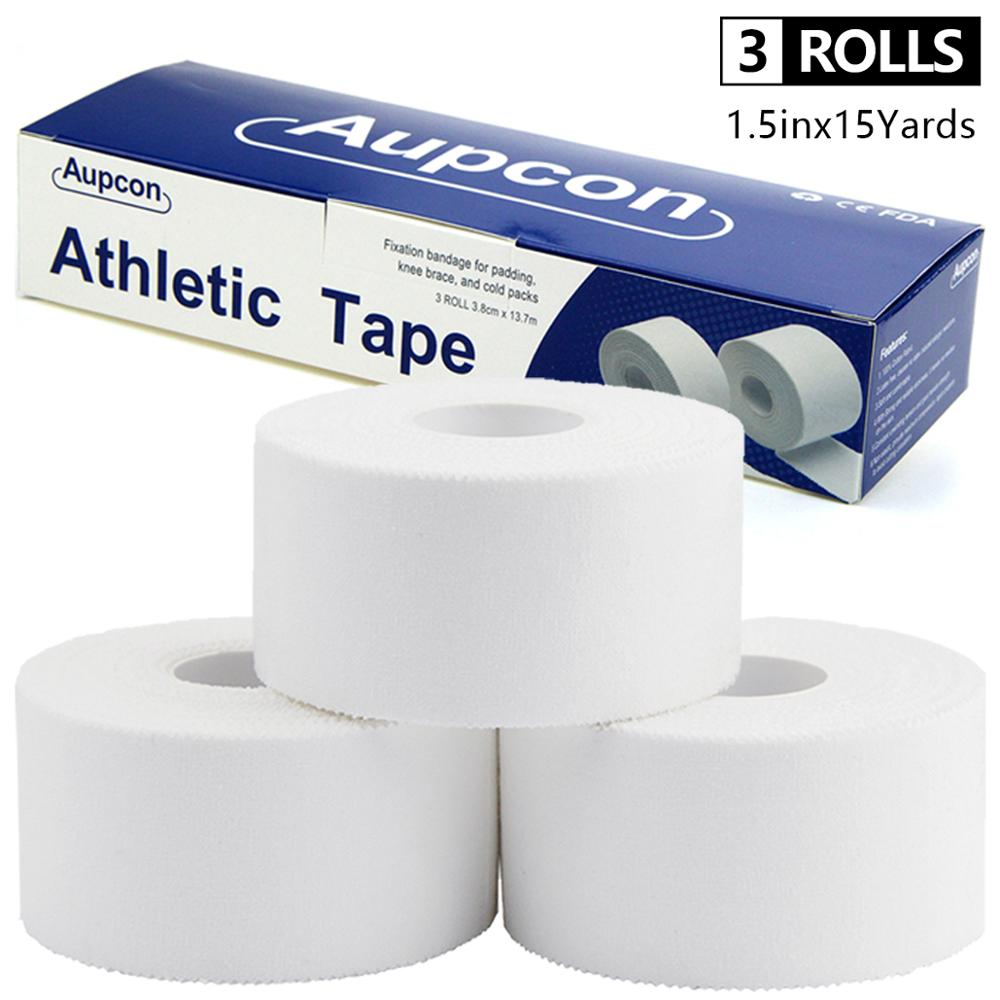White Cotton Sport Tape 3.8cm*13.7m Adhesive Elastic Bandage Protect Muscles Relieve Pain Strain Injury Support