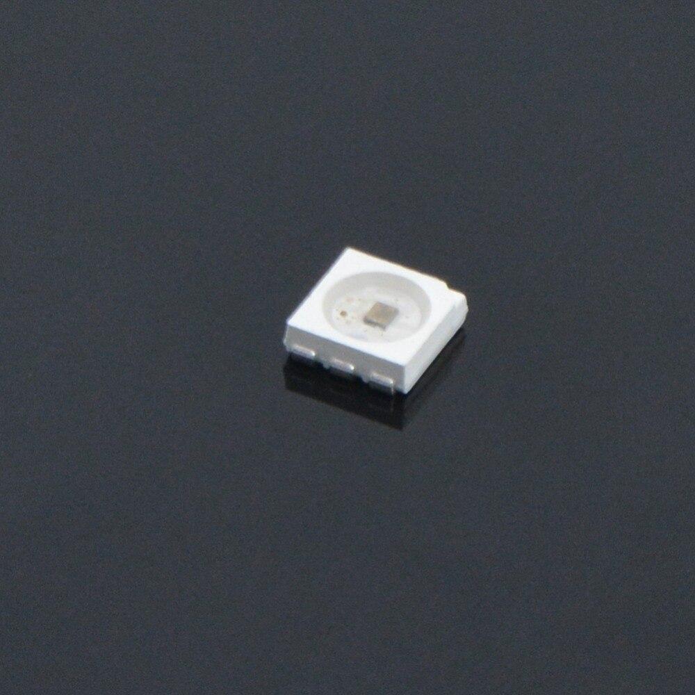 Встроенный светодиодный чип SMD5050, 100 шт., встроенный индивидуально адресуемый светодиодный чип SK9822, 5 в пост. Тока с данными и часами