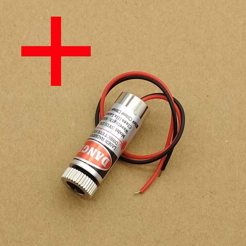 5mW 650nm Red Cross Line Laser Module Focus Adjustable Laser Head 5V Industrial Grade
