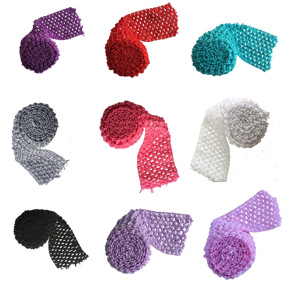 Bandas de tutú elásticas de 2,75 pulgadas de ancho Crochet cintura elástica por el metro para falda de tutú DIY suministros de tutú