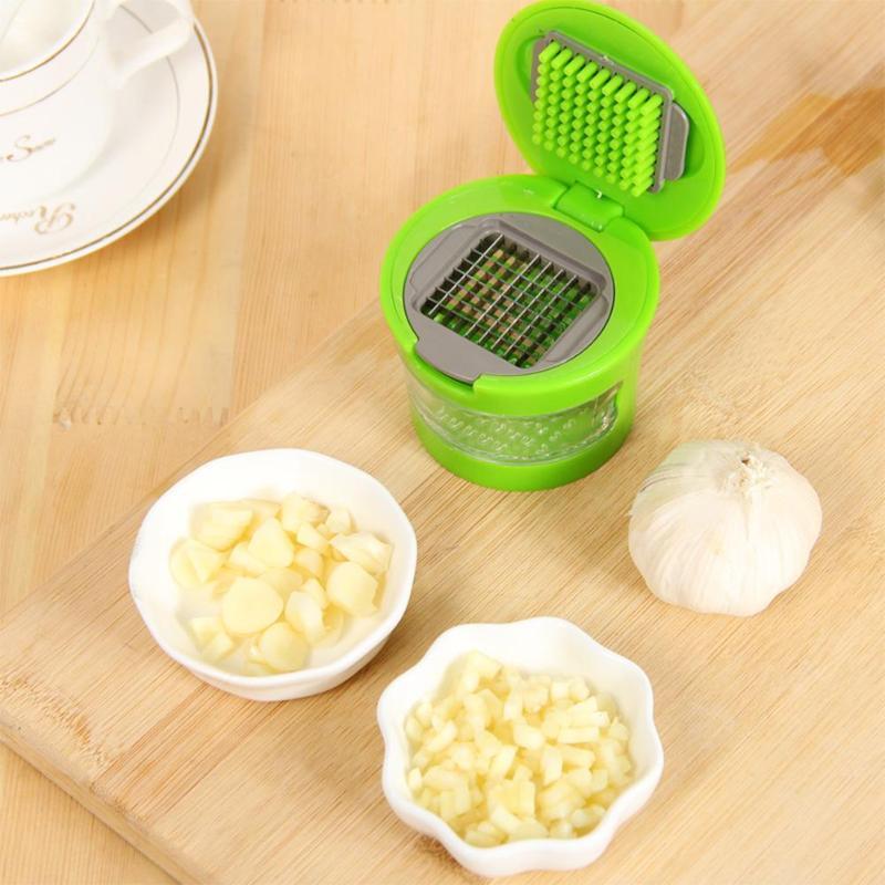 Mini Manual Garlic Grater Portable ABS Stainless Steel Garlic Press Chopper Slicer Hand Presser Grinder Crusher Kitchen Tool