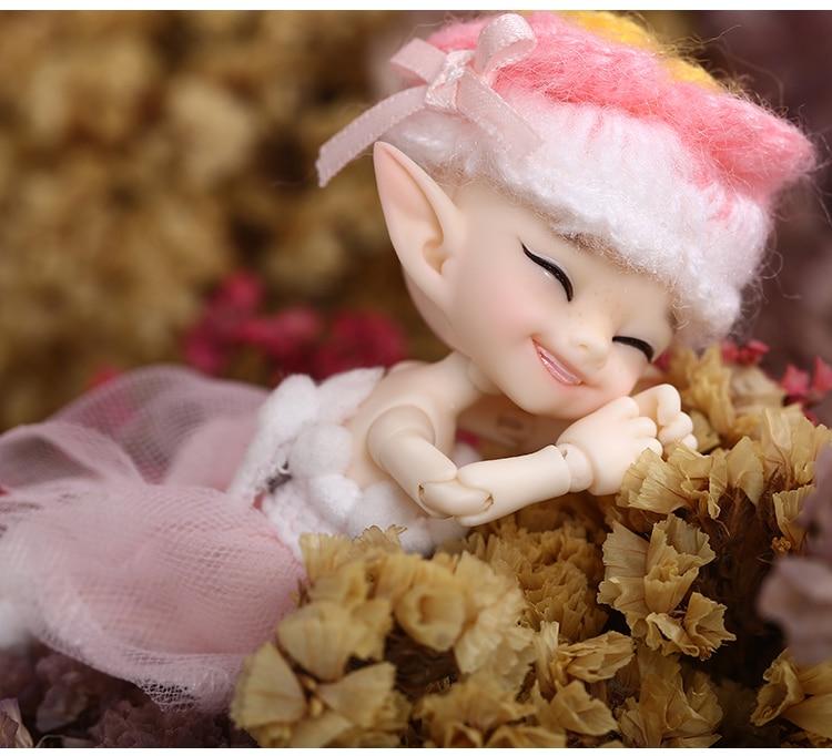 Realpuki Popo Freeshipping Fairyland Fl Doll Bjd 1 13 Pink Smile Elves Toys For Girl Tiny Resin Jointed Doll Dolls Aliexpress