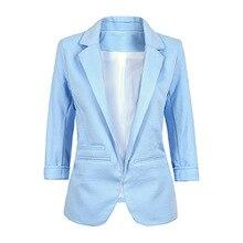 Female Short Sleeve Blue Formal Suit Girls Clothing Ladies Blazer Business Office Wear Womens Tops Black Blazer Large Size 2XL