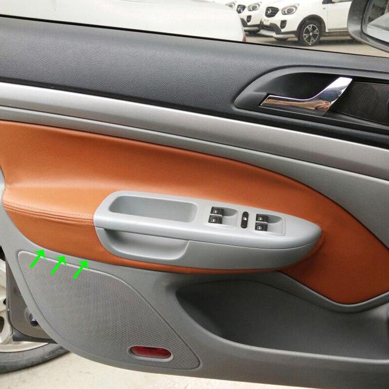 LHD For Skoda Octavia 2007 2008 2009 2010 2011 2012 2013 2014 4pcs Microfiber Leather Car Door Handle Armrest Panel Cover Trim