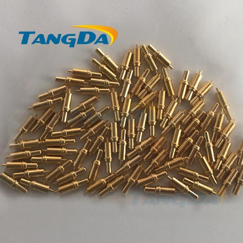 3.5*12.3 مللي متر بوجو دبوس 3.5 12.3 إنترفون كشتبان كبيرة تمتد الربيع إبرة الذهب مطلي التحقيق شحن مجاني A.